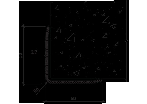 Угол защитный PLINTO L 50x50