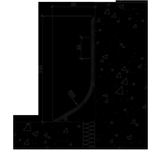 PLINTO RAD 60x150