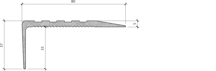 Профиль для защиты ступеней PLINTO SEP 80×37