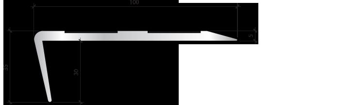 Профиль для защиты ступеней PLINTO SEA 100×35