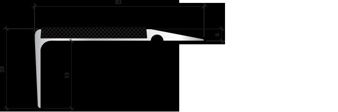 Профиль для защиты ступеней PLINTO SEA 83×39